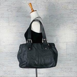 Coach Soho Caryall black leather tote shoulder bag